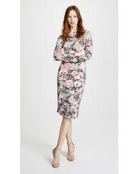 Fleur du Mal - Printed Knit Dress With Side Snaps - Lyst