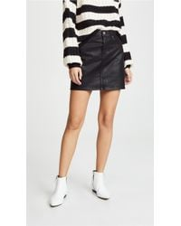 7 For All Mankind - The Coated Miniskirt - Lyst