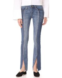 Blank NYC - Slit Front Skinny Jeans - Lyst