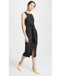 EVIDNT - Tie Front Dress - Lyst