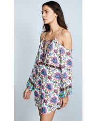 Nanette Lepore - Rosarito Off-the-shoulder Printed Coverup Dress - Lyst