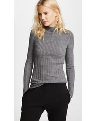 ATM - Varigated Rib Turtleneck Jumper - Lyst