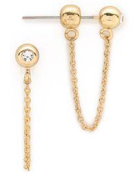 Sam Edelman - Ball Chain Bar Earrings - Gold - Lyst