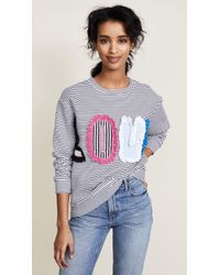 Michaela Buerger | Love Striped Sweatshirt | Lyst