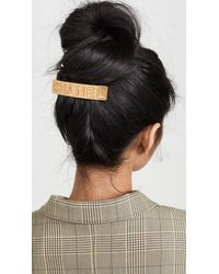 What Goes Around Comes Around Chanel Hair Clip - Metallic