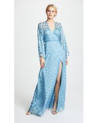 Michelle Mason - Kimono Wrap Gown - Lyst