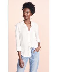L'Agence - Ryan Blouse In White - Lyst