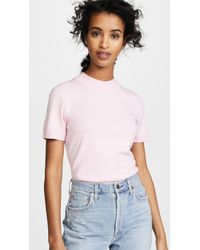 MILLY - Mod Neck Top - Lyst