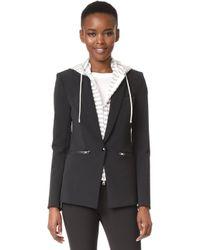 Veronica Beard - Scuba Jacket With Stripe Jumper Hoodie Dickey - Lyst