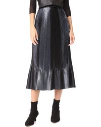 Adam Selman - Topiary Pleated Skirt - Lyst