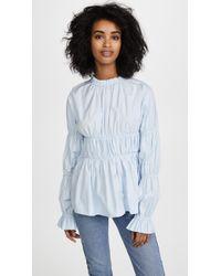 Jourden | Blue Cotton Top | Lyst