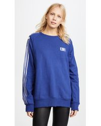 Baja East - Embroidered Crew Sweatshirt - Lyst