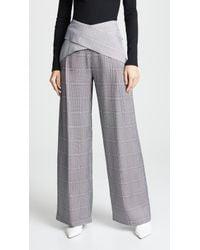 Dion Lee - Wide Leg Check Pants - Lyst