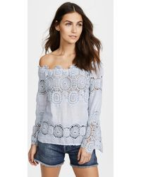 Temptation Positano | Lau Off The Shoulder Top | Lyst