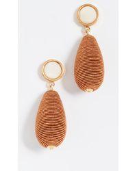 Lizzie Fortunato - Terracotta Drop Earrings - Lyst