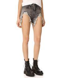 R13 - Shredded Slouch Shorts - Lyst