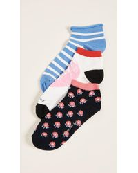 Kate Spade - 3 Pack Of Love Lobster Socks - Lyst