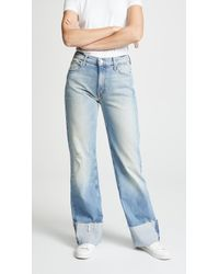 Mother - The Dusty Cuff Fray Jeans - Lyst