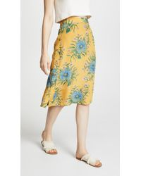 Madewell - Painted Blooms Skirt - Lyst