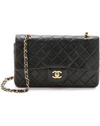 What Goes Around Comes Around Chanel 10'' Shoulder Bag - Black