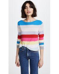 Autumn Cashmere - Rainbow Stripe Cashmere Sweater - Lyst