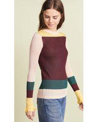 Scotch & Soda - Rib Knit Color Blocked Pullover - Lyst