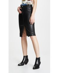 McGuire Denim - Vegan Leather Marino Skirt - Lyst