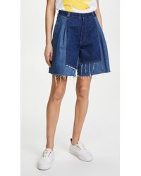 Ksenia Schnaider - Vintage Denim Shorts - Lyst