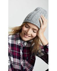 Free People - Rory Rib Knit Beanie - Lyst