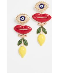 Tory Burch - Crazy Charms Statement Earrings - Lyst