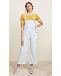 J Brand - Cropped Overalls - Lyst