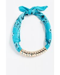 Holst + Lee - Bandana Necklace - Lyst