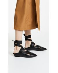Carven - Berri Lace Up Pointed Mules - Lyst