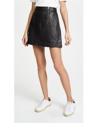 Madewell - Leather Uptown Zip Skirt - Lyst