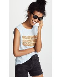 Rebecca Minkoff - Vacation Muscle Tee - Lyst