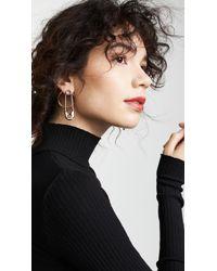 Alexander Wang - Safety Pin + Hoop Earrings - Lyst