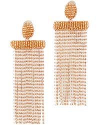 Oscar de la Renta - Waterfall Tassel Clip Earrings - Lyst
