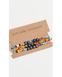 Roxanne Assoulin Camp Bracelets - Do It With Love - Multicolour