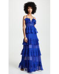 Glamorous - Cobalt Ruffle Tiered Dress - Lyst