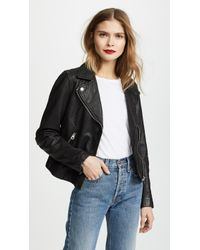 Madewell - Washed Leather Motorcycle Jacket - Lyst