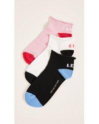 Kate Spade - 3 Pack Of Left Right Socks - Lyst