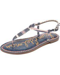 74b3577a9f88af Sam Edelman - Gigi Striped Sandals - Lyst