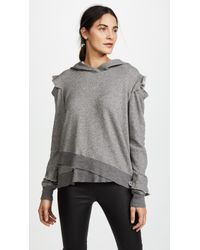 Wilt - Ruffle Cold Shoulder Hoodie - Lyst