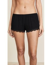Only Hearts - Feather Weight Rib Lace Trim Sleep Shorts - Lyst