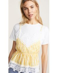 English Factory - T-shirt With Combo Top - Lyst
