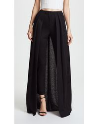 Hellessy - River Slim Trousers With Skirt Overlay - Lyst