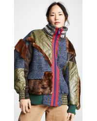 Kolor - Mixed Media Puffer Jacket - Lyst