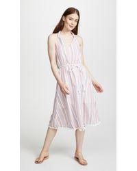 Moon River - Striped Halter Dress - Lyst