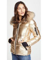 Sam. - Blake Short Down Jacket With Fur - Lyst