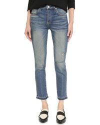 AMO | Babe High Rise Cropped Slim Jeans | Lyst